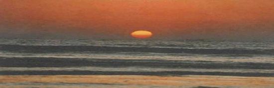 Patuakhali, Bangladesh: Sun set in kuakata
