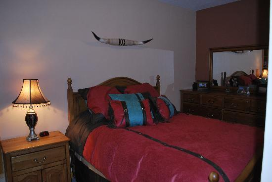 "Cowboy's Lodge: master bedroom ""rodeo roundup"""