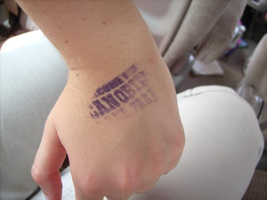 Canobie Lake Park: Stamp received at lunch time!