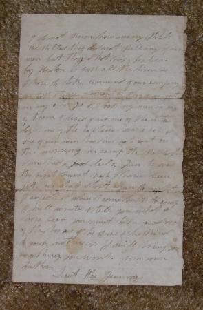 Mehoopany, PA: father's mother's side:  Letter from Civil War written by my 3rd great grandfather, William Jenn