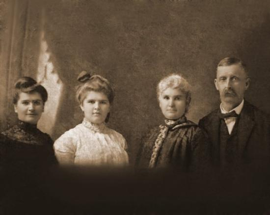 Burlington, PA: father's mother's side: 2nd from left is my great grandmother, Emma, pictured with her sister (l