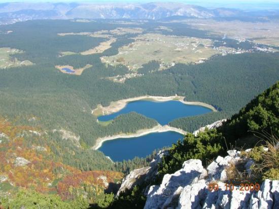 Zabljak, Μαυροβούνιο: pogled sa vrha