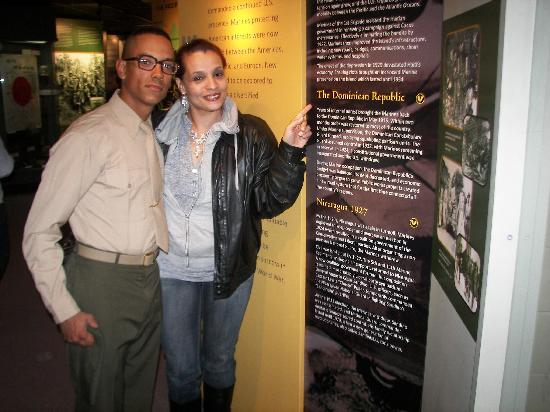 Days Inn Port Royal/Near Parris Island: MY SON AND I ON FAMILY DAY AT THE MUSEUM