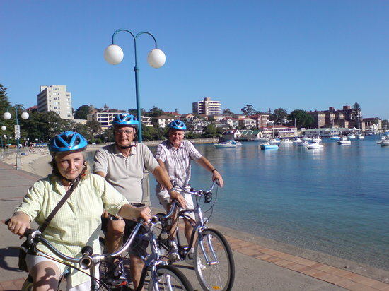 Manly Bike Tours and Bike Hire : Riding along the promenade