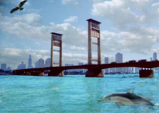 Palembang, Indonesia: Jembatan Ampera