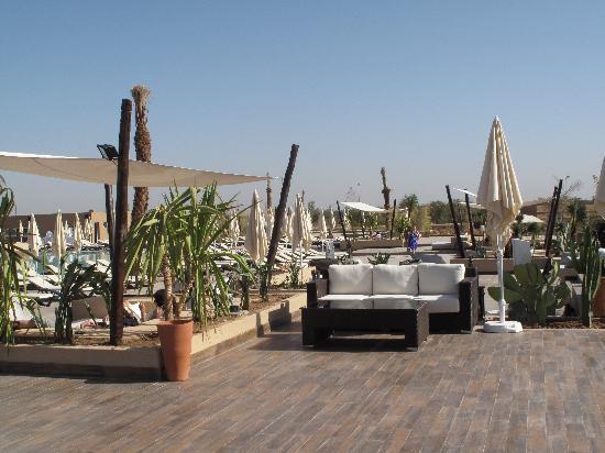 ClubHotel Riu Tikida Palmeraie : Lunch terrace and pool