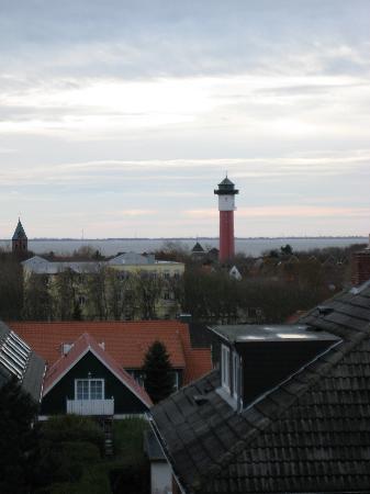 Wangerooge, Alemania: Aussicht aus unserem Zimmer 3. Etg.