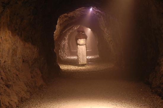 King Arthur's Labyrinth: mysterious hooded boatman