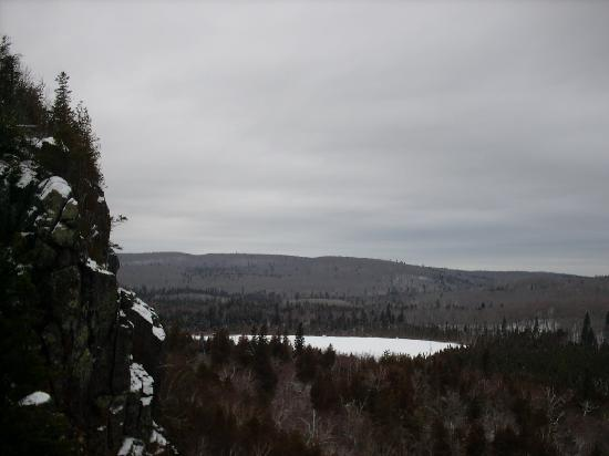 Oberg Mountain Loop: Cold frozen lake. All by myself up there. Very secluded. It was silent as can be.