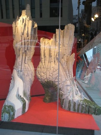 At the Bata Shoe Museum.