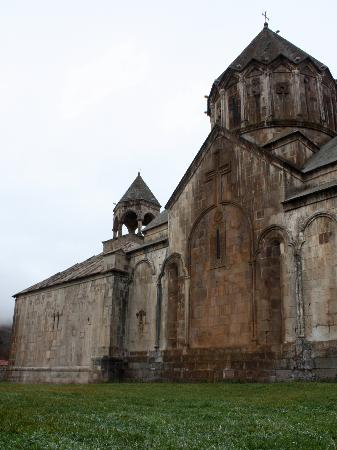Khankendi, Azerbaïdjan : Gandzasar monastery, situated not far from Stepanakert