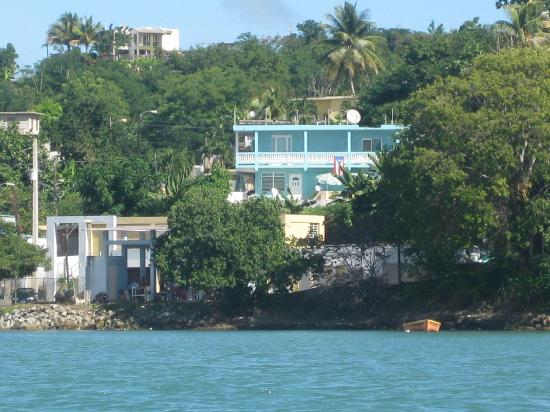 Casa Libre and Naguabo Bay from the kayak