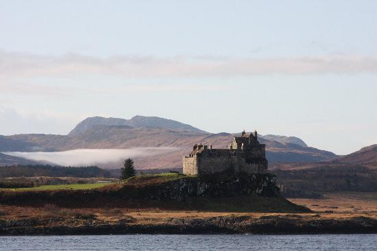 Duart Castle on the way to Mull from Oban