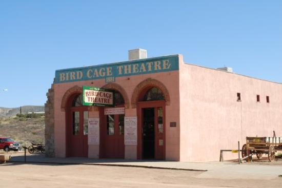 Bird Cage Theatre: BIRD CAGE....The stage and original curtain are still intact, and while touring the theater one