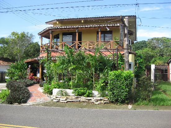 As seen from the main street, cute as can be Casita Margarita