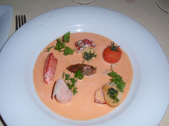 El Bulli Hotel - Hacienda Benazuza: Lobster Gazpacho with Basil Aroma