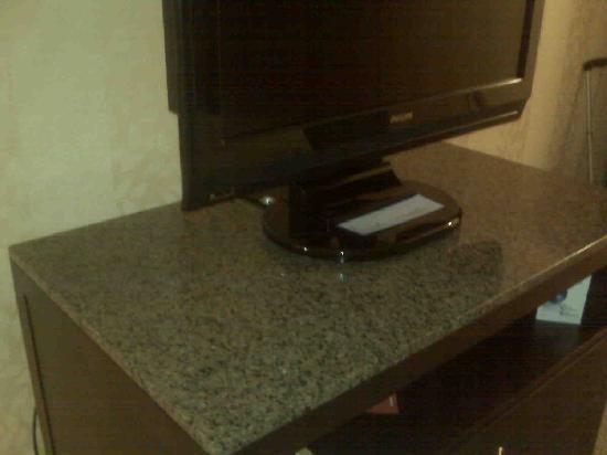 Hilton Garden Inn Detroit/Novi: TV and dresser