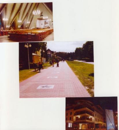 Wladyslawowo, Poland: Die Kirche, Die Straße der Sterne, Hotel Velaves.