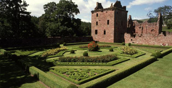 Edzell Castle: The walled pleasance from 1603