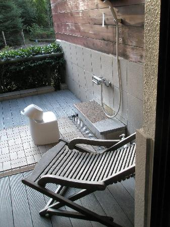 Hotel Green Plaza Hakone: Outdoor shower for Onsen