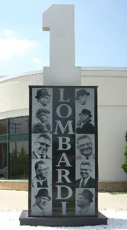Lombardi monument on the Walk of Legends, Green Bay, WI, USA