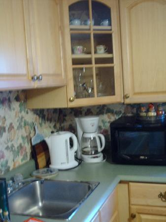 Williams Gate Bed and Breakfast Private Suites: We loved the kettle!