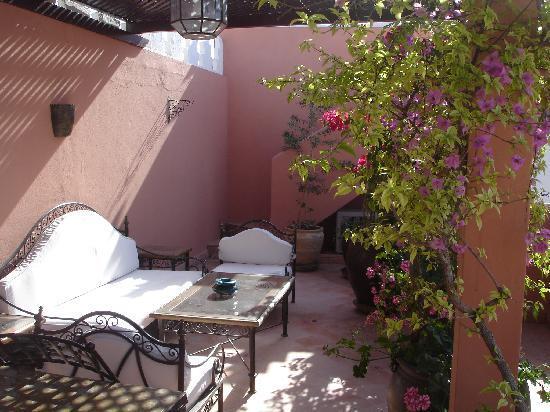 Ryad Najda: une des terrasses du ryad