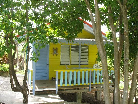 Bayaleau Point Cottages: yellow cottage eingang und veranda