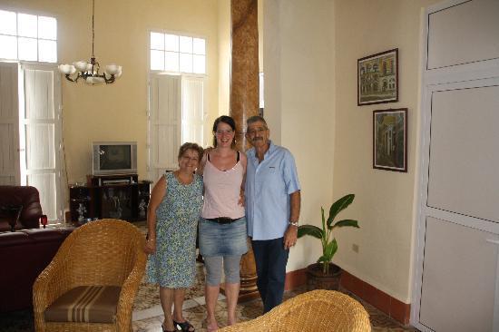 Casa Particular Aurora: Señora Aurora, Señor Julio and me