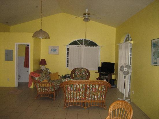 Ocean Pearl Villa: Upper level of villa (living room)