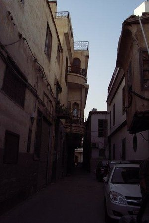 Narrow streets in Damascus Old City