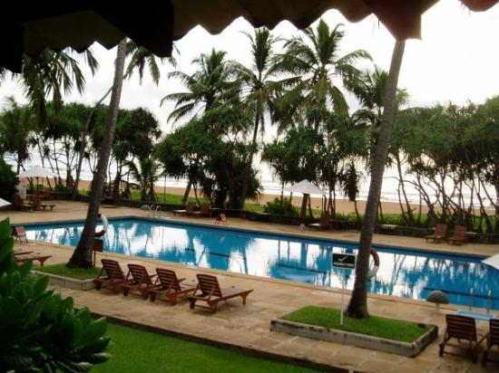 Hotel pool in Bentota Sri Lanka - not bad for 12 months after the tsunami. 1200 people lost thei