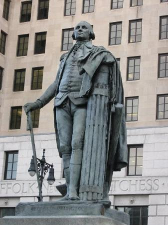 Statue of George Washington near the Capitol building in Albany