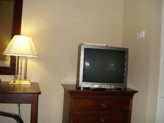 Quality Inn & Suites: the TV in our room