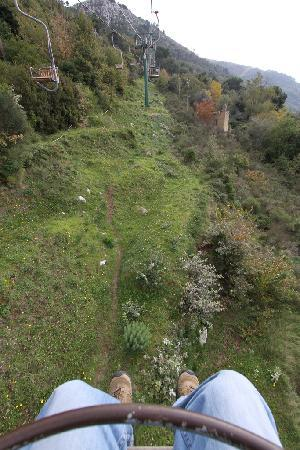 Mount Solaro: On the ride up