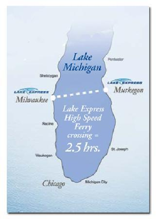 Lake Express Route Map Picture Of Lake Express Muskegon Tripadvisor