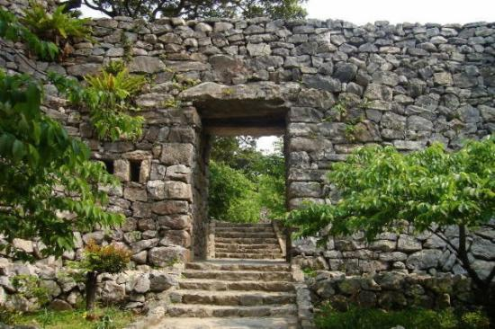 Stone gate to Nakijin Castle, Nakijin-son, Okinawa Pref., Japan - Picture of ...