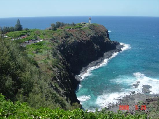 Kilauea Point National Wildlife Refuge: 先端にあるのがキラウエア灯台