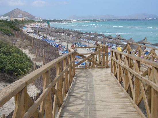 Eden Playa: Beach outside hotel
