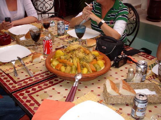 Riad Calista : La comida que nos estaba esperando a la llegada