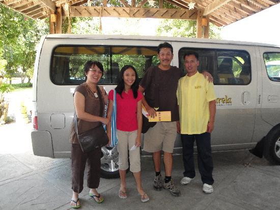 Amarela Resort: with d hotel's driver, jenson ready to bring us to d airport for our way back home