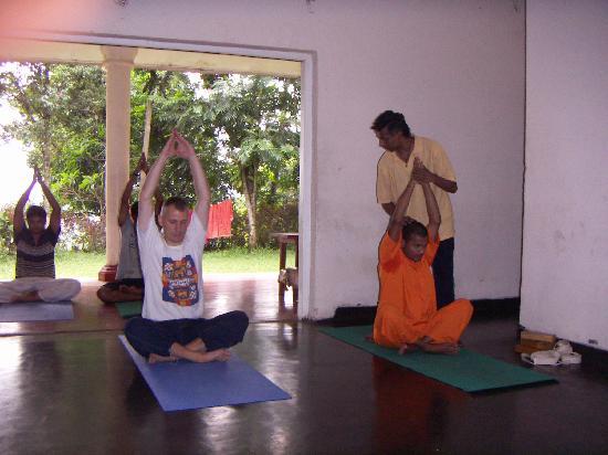 Yoga Jeewaprabha at Lewella Meditation Centre, Kandy, Sri Lanka: Yoga at LMC