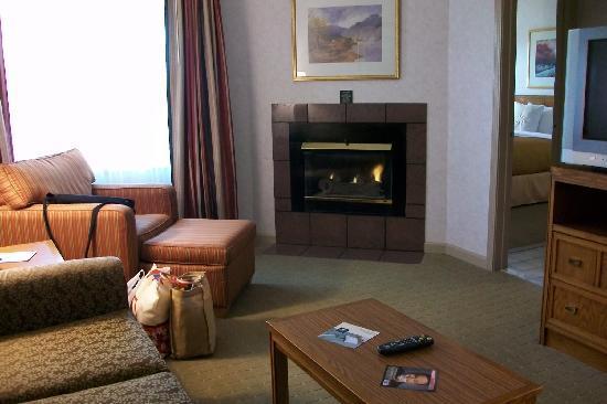 هوموود سيراكيوز/ليفربول: living room with fireplace