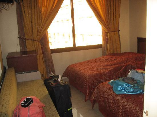 Al-Madinah / City Hotel: Lived-in Hotel room, just before we checked out
