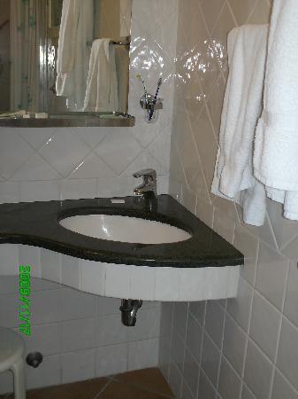 Hotel Balcony: the bathroom sink