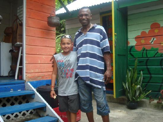 Mikuzi Port Antonio: steve and my son b.j.