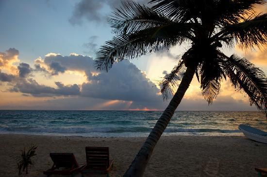 Hotel CalaLuna Tulum: make sure you wake up at least once to watch the sunrise ! spectacular !
