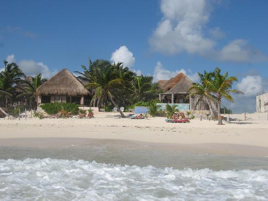 view from the beach picture of hotel calaluna tulum. Black Bedroom Furniture Sets. Home Design Ideas