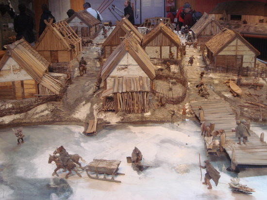 Bjorko, สวีเดน: Museum model of Viking Village