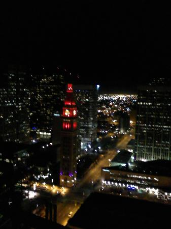Brooks Tower Furnished Apartments at 16th Street Mall: Night view from condo balcony